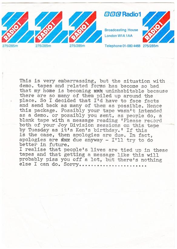 John Peel Letter
