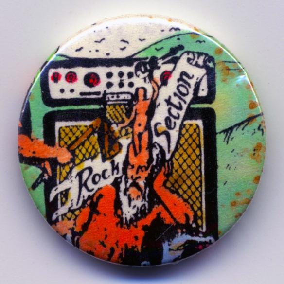 Original Skin Patrol / One Million Fuzztone Guitars 'Rock Section' Badge
